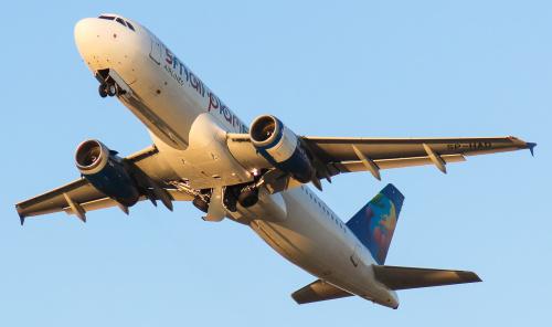Odlot z ulubionym światłem fotografów lotniczych - w porze wieczoru :)