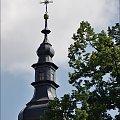 """Kościółek w Krościenku n. D. cały poowijany (w remoncie), jedynie wieżyczce """"upiekło się"""" :)"""