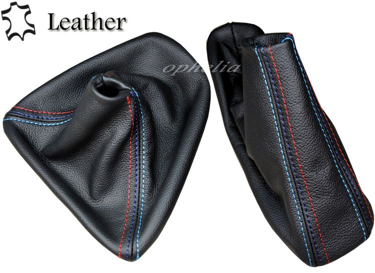 Black Stitch Daim Gear Frein à main pour BMW E90 E91 E92 E93 automatique M //// Stitch