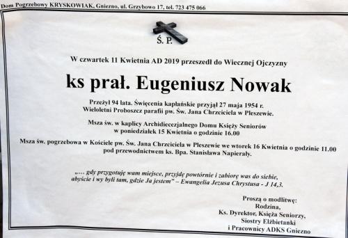 ks. prałat Eugeniusz Nowak lat 94 #ksiądz