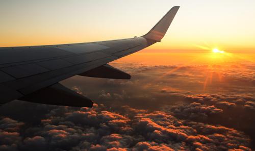 Wschód słońca nad Kretą widziany z lotu ptaka - dosłownie :)