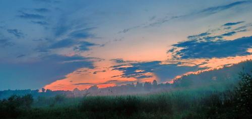 ...o zachodzie słońca...