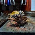 kameleon biżuteria srebrna z bursztynem - www.silverum.com.pl - #wisiorek #zbursztynem #bizuteria #artystyczna #unikatowa #gdańsk #producent