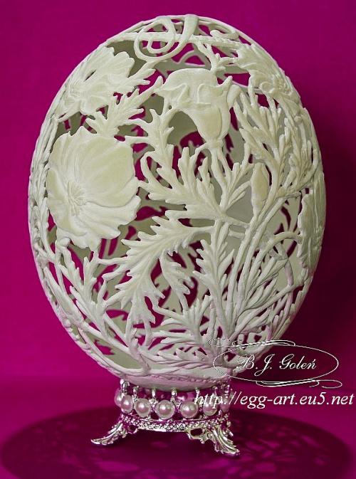 #prezent #urodziny #strusie #jajko #rzeźbione #prezent #alicji#ażurowe