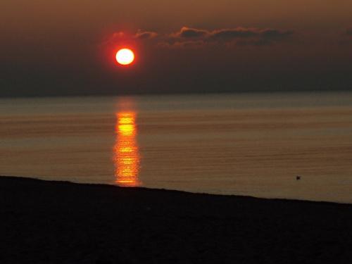 Zachód słońca nad Baltykiem_Dąbki koło Koszalina