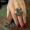 pierścionek kwiat - www.silverum.com.pl #kwiatek, #artystyczna, #biżuteria, #srebrna, #pierścionek #producent, #gdansk