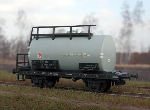 Cysterna do przewozu benzyny PEC w zarządzie kolei PKP. Epoka III. Skala 1:87 H0 #Cysterna H0 #PKP #Wagon #cysterna H0 #PKP