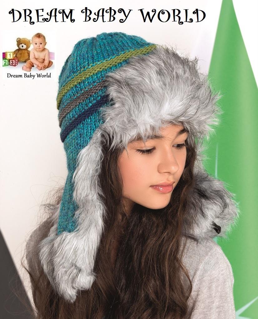 BABY GIRLS KIDS KNITTED  warm winter hat size 9-24 months NEW TIE UP POM POMS.